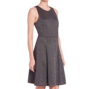 Theory Trekana Compas Knit Jacquard Dress